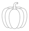 pumpkin outline drawing vector image vector image