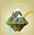 pure nature vector image