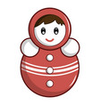 red tumbler doll icon cartoon style vector image