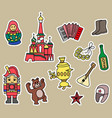 russia culture doodle graphic element vector image vector image