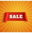 Sale red banner on orange background vector image vector image