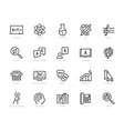 school subjects icon set in thin line style vector image vector image
