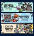 scientific research and laboratory sketch vector image vector image