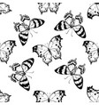 seamless pattern with black and white alcides vector image vector image
