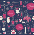 seamless texture background on the topic of wine vector image