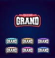 set of the power full grand racing typography vector image