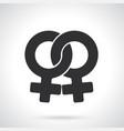 silhouette female homosexual venus symbol vector image vector image