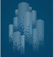 skyscrapers buildings concept silhouette modern vector image