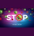stay home stop coronavirus design with falling vector image vector image