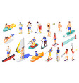 summer sports isometric icons vector image vector image