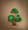 tree paper vector image vector image