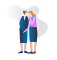two female friends gossiping vector image vector image