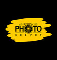 typography design photography vector image vector image