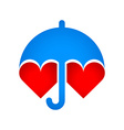 Umbrella protects hearts vector image vector image