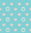 vintage water lilies in circles on vector image vector image