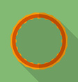 Sport hula hoop icon Modern Flat style with a long vector image