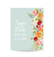 wedding invitation card with lily flowers vector image