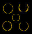 best award gold award laurel wreath set vector image