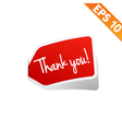 Thank you Sticker tag - - EPS10 vector image