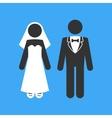 Wedding Couple Marriage Invitation Template vector image