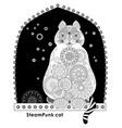 abstract futuristic fantastic cat steampunk vector image