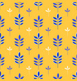 abstract seamless pattern minimalistic leaves vector image vector image