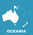 australia and oceania map flat