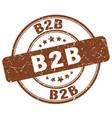 b2b brown grunge stamp vector image vector image