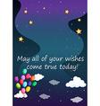 Birthday wish vector image