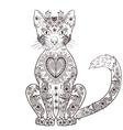 Black cat artistic vector image