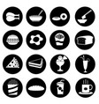 black fast food icon vector image vector image