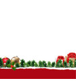border with gift box vector image vector image