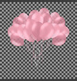 bunch of colorful pink rose helium balloons vector image vector image