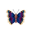 butterfly icon 3d realistic nymphalis antiopa vector image vector image