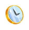 cartoon style clock clock icon vector image vector image