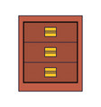 chest of drawers icon image vector image vector image