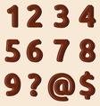 Cokoladni brojevi resize vector image vector image