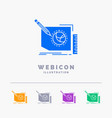 content design frame page text 5 color glyph web vector image