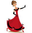 Dancing lady vector image vector image