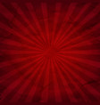 dark red sunburst background vector image vector image