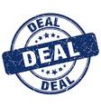 deal blue grunge round vintage rubber stamp vector image vector image