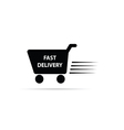 fast delivery black and white vector image
