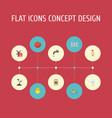 flat icons sack landscape faucet elements vector image vector image