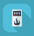 flat modern design with shadow icons matches vector image vector image