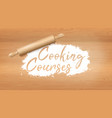 flour cooking courses vector image vector image