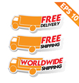 Free delivery logistic advertising transportation vector image