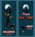 halloween party poster with sexual witch vector image vector image