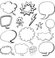 hand drawn cartoon speech bubbles vector image vector image