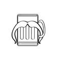 hipster beer outline vector image