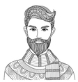 Hipster guy coloring vector image